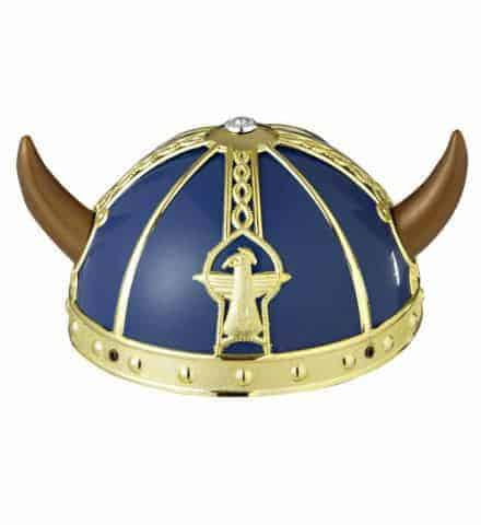 Casque bleu de viking