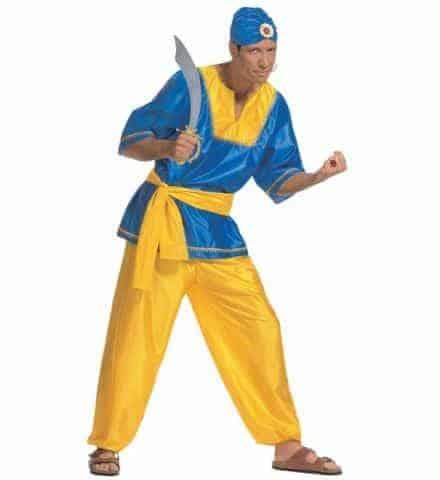 Prince arabe jaune/bleu