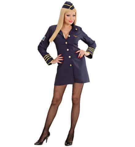 Hotesse De L Air Sexy Costume Robe Et Chapeau Tailles Adultes