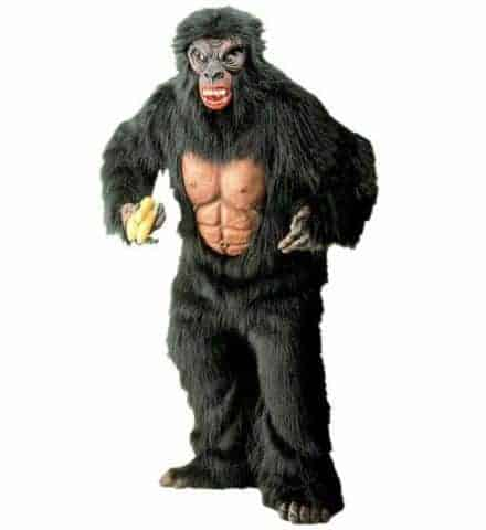 Costume de gorille peluche