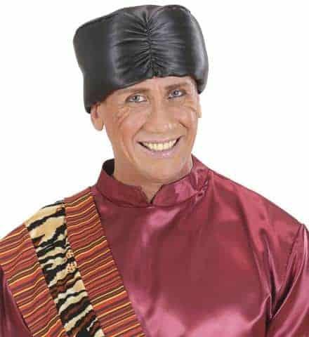 Turban noir en satin