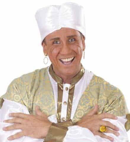 Turban blanc en satin