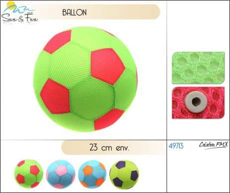 Ballon foot plage fluo