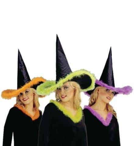 Chapeau sorciere néon