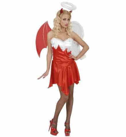 ROBE ANGE OU DÉMON (Robe, ailes avec auréole) Tailles adultes
