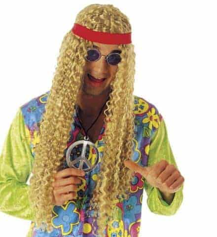 Perruque homme hippie