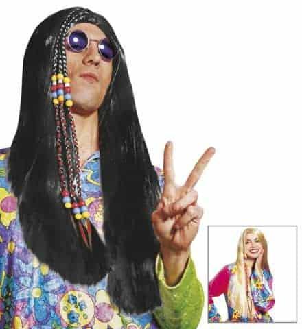 Perruque hippie longue