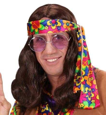 Perruque longue hippie
