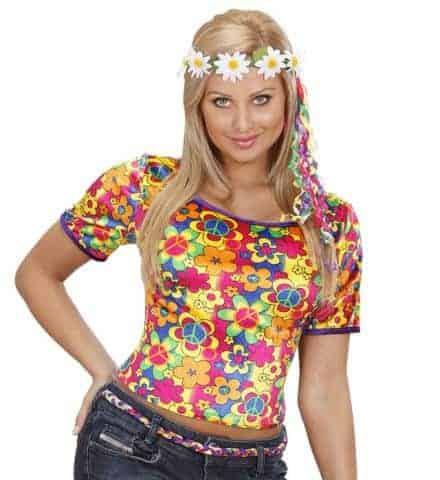T-shirt fleurs velours