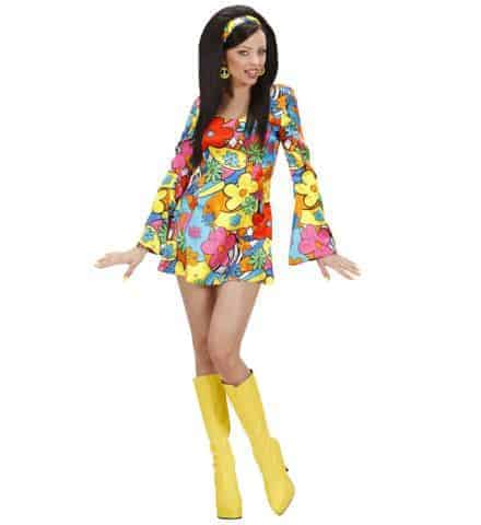 Robe a fleurs hippie