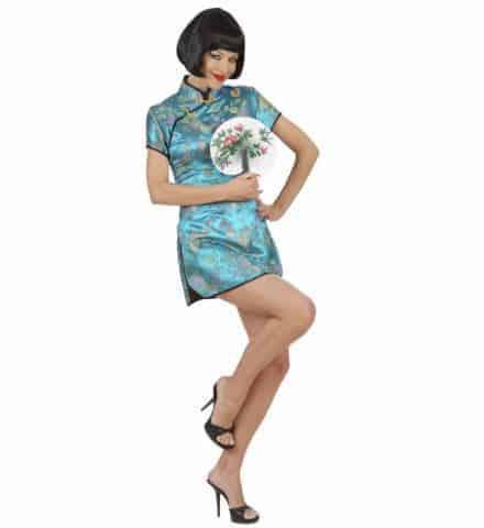 Robe bleue chinoise