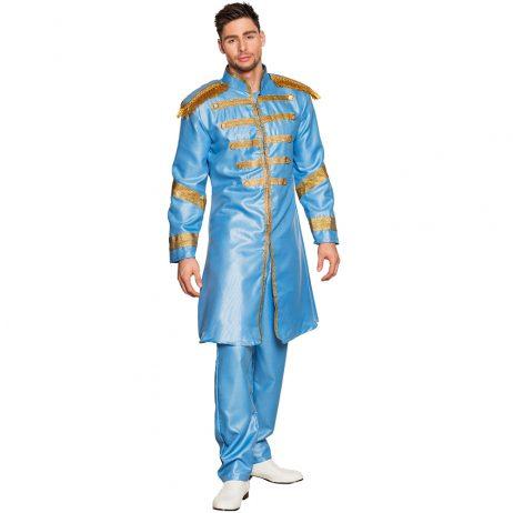 COSTUME CHANTEUR POP (Costume Britpop Bleu) Tailles adultes