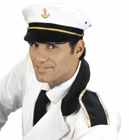 CASQUETTE DE CAPITAINE (Chapeau de marin)
