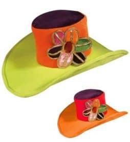 Chapeau hippie néon