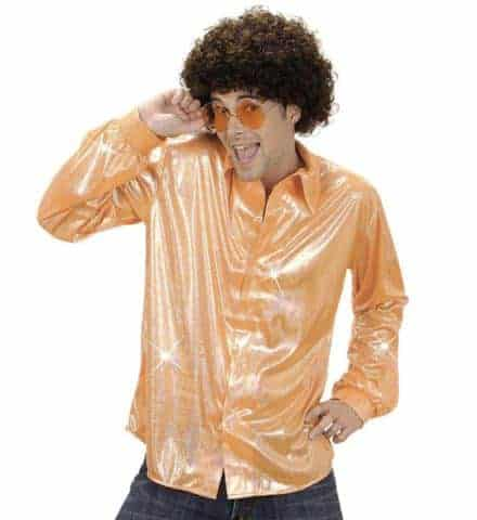 Chemise disco orange