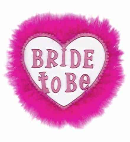 BROCHE FUTURE MARIÉE (Coeur blanc - Bride to be)