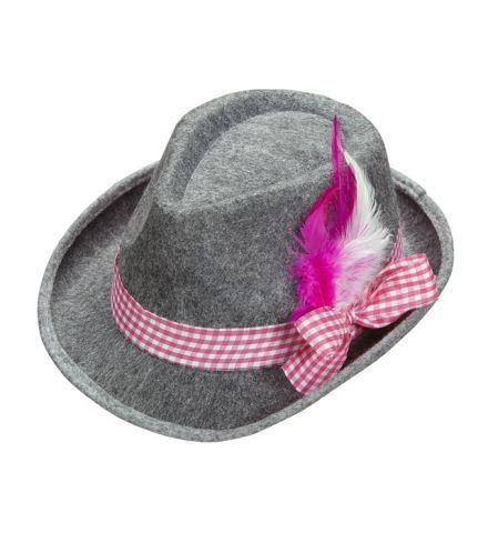 Chapeau feutre gris bavarois