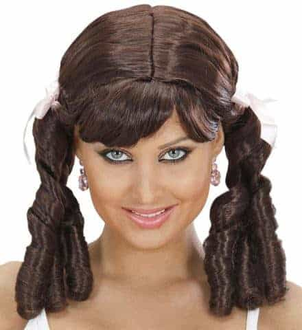 Perruque brune lolita