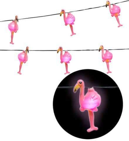 FLAMANTS ROSES LUMINEUX (Guirlande lumineuse) Longueur 2.50 m - 10 lampes