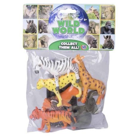 ANIMAUX DE LA JUNGLE (Sachet de 6 animaux)