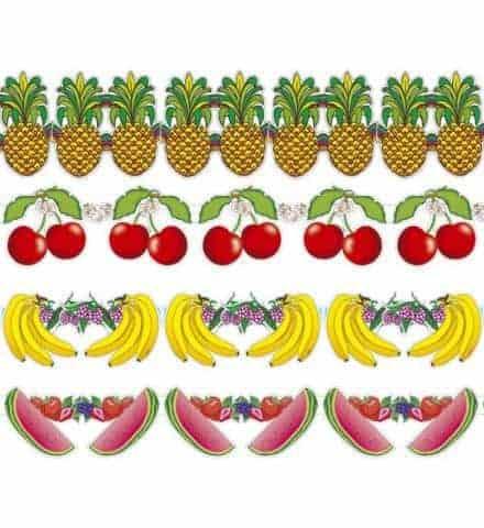 GUIRLANDES DE FRUITS (Taille 3 mètres - 4 modèles)