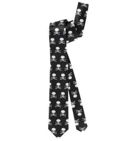 CRAVATE SQUELETTE (Cravate en satin)