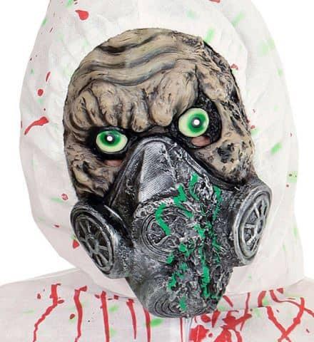 DEMI MASQUE RADIO ACTIF (Masque zombie en latex) Démo vidéo