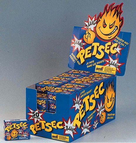 BOITE DE PÉTARDS PETSEC (50 boites de 50 pièces) Claque doigt - Pet sec