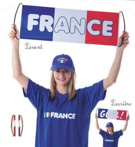 BANDEROLE FRANCE/GOAL (Recto verso 70 x 24 cm) Supporter France BBR