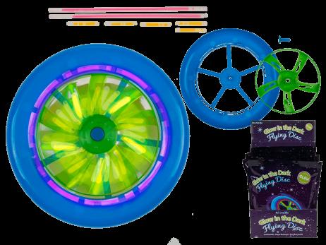 DISQUE VOLANT LUMINEUX (Frisbee lumineux 18 cm)