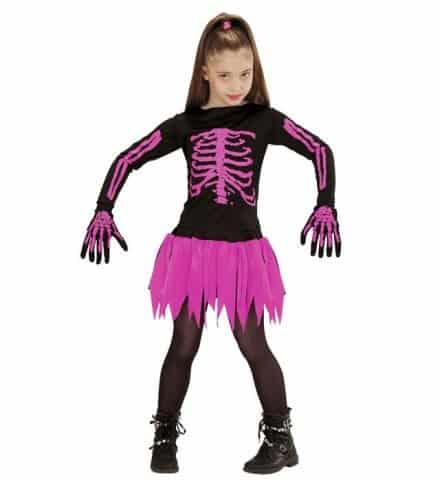 FILLE SQUELETTE BALLERINE (Costume avec les gants) Tailles enfants - Démo vidéo