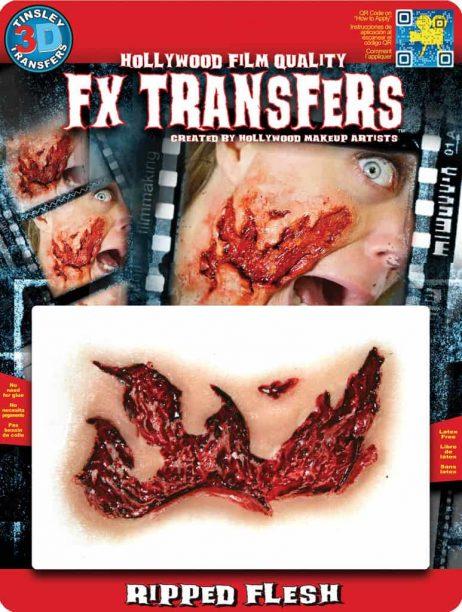 FAUSSE BLESSURE 3D (Écorchure de chair) Transfert FX professionnel
