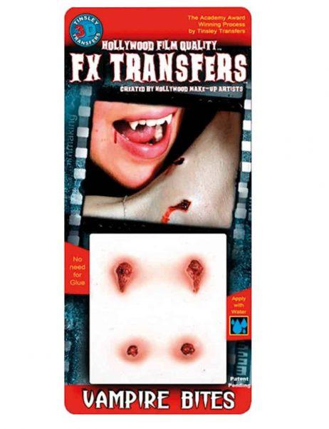 FAUSSE BLESSURE 3D (Morsures de vampire) Transfert FX professionnel