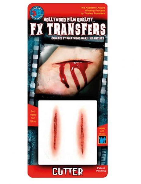 FAUSSE BLESSURE 3D (Coupures sanglante) Transfert FX professionnel