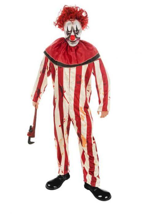 CLOWN TUEUR MASQUÉ (Costume avec masque) Tailles adultes