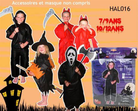 PACK HALLOWEEN 1ER PRIX (Déguisements enfants) Assortiment 7/9 et 10/12 ans