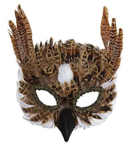 MASQUE DE CHOUETTE (Masque en plumes)