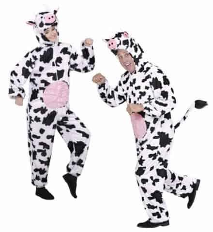 COSTUME VACHE DRÔLE (Costume, capuche, masque) Tailles adultes - Démo vidéo