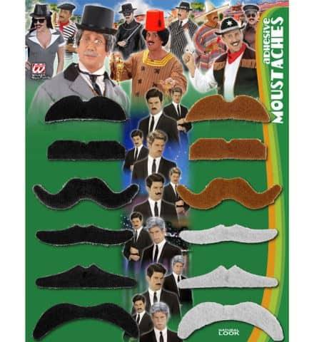 PACK MOUSTACHES PARTY (12 moustaches - 3 coloris)
