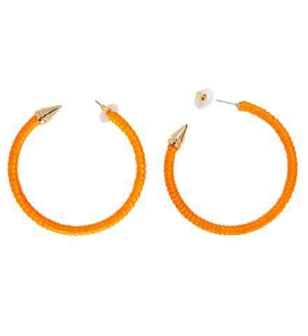 BOUCLES D'OREILLES FLUO (Couleur orange néon)