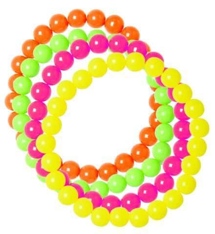 PACK 4 BRACELETS DISCO (Perles multicolores)