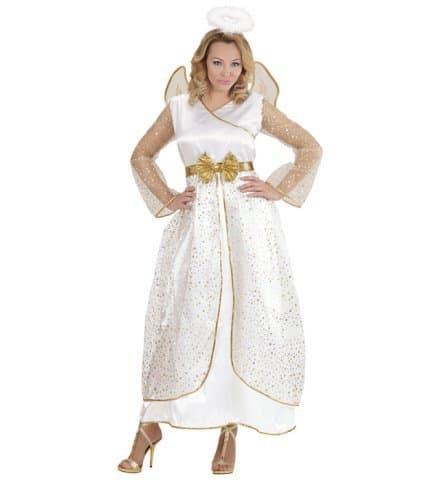 COSTUME D'ANGE FEMME (Robe avec ailes et auréole) Tailles adultes - Démo vidéo