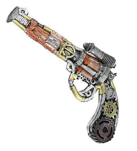 PISTOLET STEAMPUNK (Revolver mousse de latex)