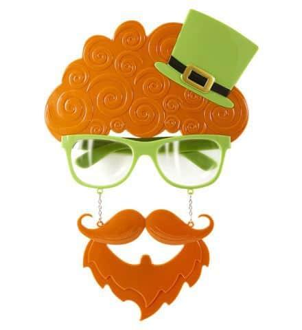 LUNETTES SAINT PATRICK (avec moustache et bouc)