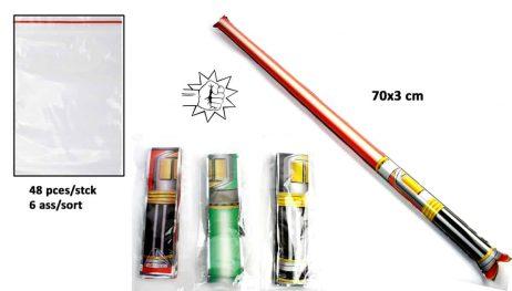 ÉPÉE AUTO GONFLANTE (Dimension 70 x 3 cm) Assortiment 6 modèles