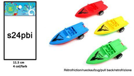 BATEAU RÉTRO FRICTION (Taille 11.5 cm - 4 coloris)