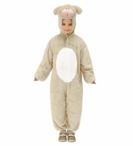 COSTUME JEUNE AGNEAU (Avec capuche et masque) Tailles enfants de 3 à 8 ans