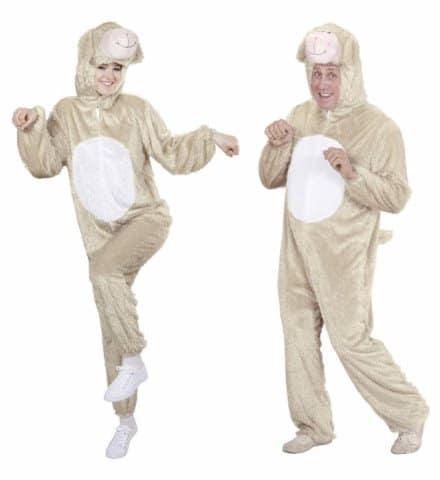 COSTUME JEUNE AGNEAU (Costume, capuche, masque) Tailles adultes - Démo vidéo