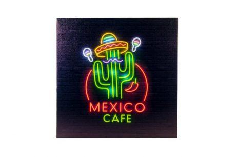 TABLEAU MEXICO A LED (Lumineux 40 x 40 cm)