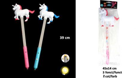 BÂTON LUMINEUX LICORNE (Bâton 2 coloris - 3 fonctions) Dimension 39 cm